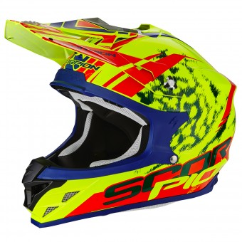 Casque Cross Scorpion VX-15 Evo Air Kistune Neon Yellow Red