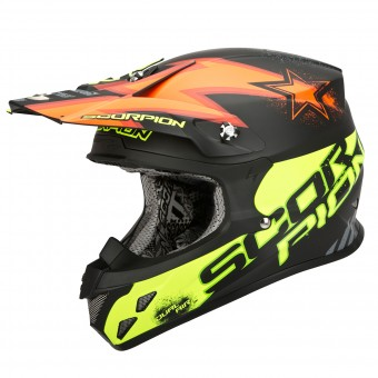 Casque Cross Scorpion VX-20 Air Magnus Orange Gelb Fluo