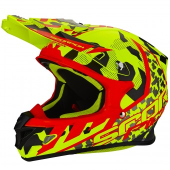 Casque Cross Scorpion VX-21 Air Furio Neon Yellow Black Red