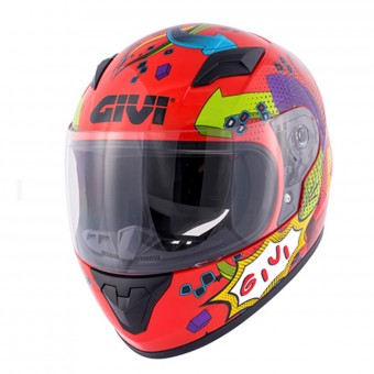 Casque Kinder Givi HJ04 Red Deco