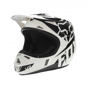 Casque Kinder FOX V1 Race Black White - Kinder