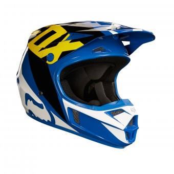 Casque Kinder FOX V1 Race Blue White- Kinder