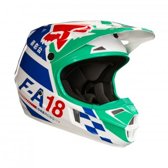 Casque Kinder FOX V1 Sayak Green - Kinder