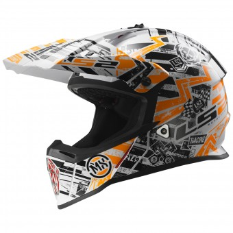 Casque Kinder LS2 Fast Mini Glitch Orange MX437J