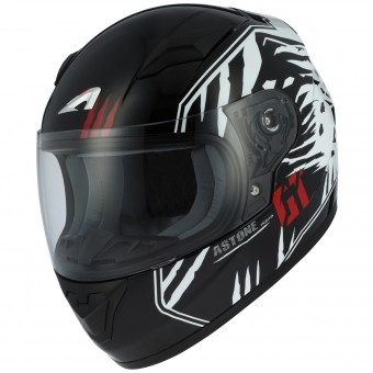 Casque Kinder Astone GT2 Kids Predator Black White