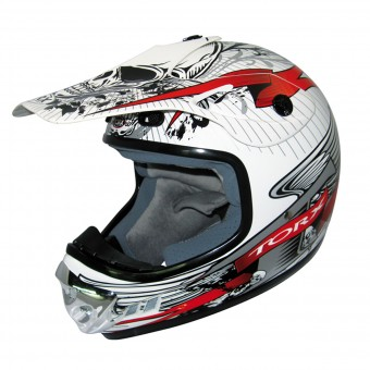 Casque Kinder Torx Peter Gang White Red Enfant