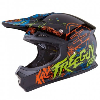 Casque Kinder Freegun Kinder XP-4 Overload Orange Green
