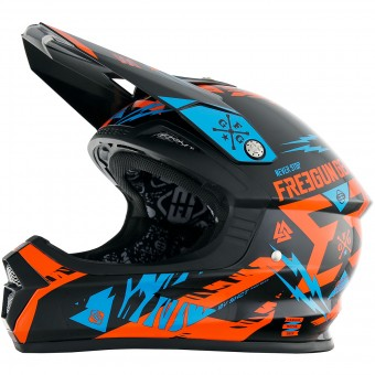 Casque Kinder Freegun XP-4 Trooper Neon Orange Cyan Kinder