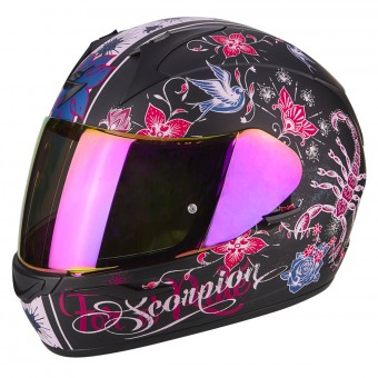 Casque Integral Scorpion Exo 390 Chica Matt Black Pink