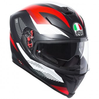 Casque Integral AGV K-5 S Marble Matt Black White Red