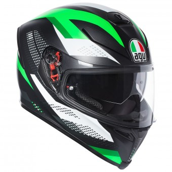 Casque Integral AGV K-5 S Marble Matt Black White Green