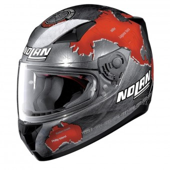 Casque Integral Nolan N60 5 Gemini Replica C. Checa Chrome 27