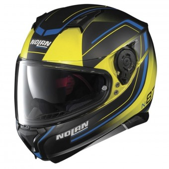 Casque Integral Nolan N87 Savoir Faire N-Com Fade Flat Led Yellow 58