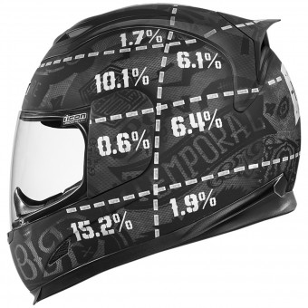 Casque Integral ICON Airframe Statistic Black