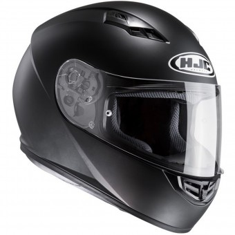 Schwarz S Motorradhelm HJC i40 SEMI MAT Schwarz//SEMI FLAT BLACK