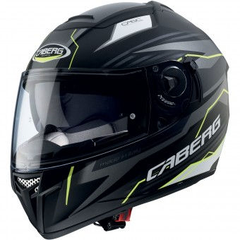 Casque Integral Caberg Ego Quartz Matt Black Yellow Fluo