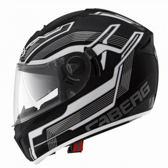 Casque Integral Caberg Ego Streamline Matt Black White