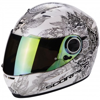 Casque Integral Scorpion Exo 490 Dream White Chameleon