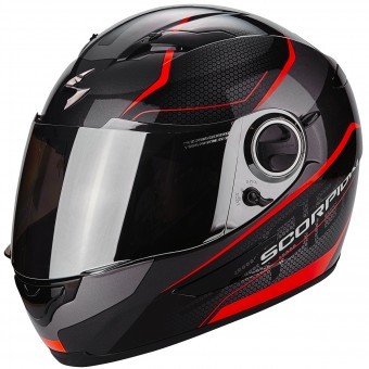 Casque Integral Scorpion Exo 490 Vsion Black Neon Red