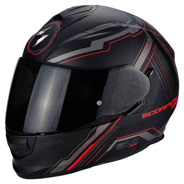 Integral Scorpion Exo 510 Air Sync Matte Black Neon Red