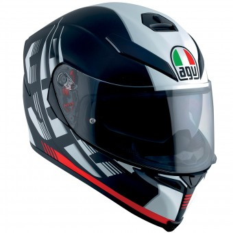 Casque Integral AGV K-5 S Darkstorm Matt Black Red