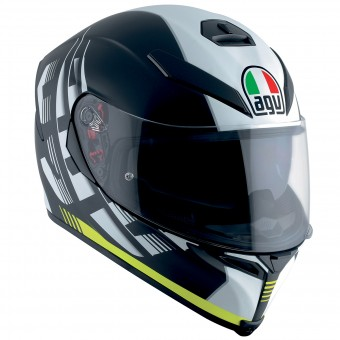 Casque Integral AGV K-5 S Darkstorm Matt Black Yellow