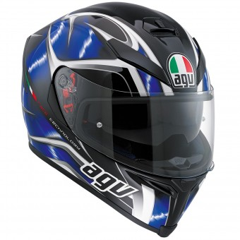 Casque Integral AGV K-5 S Hurricane Black Blue