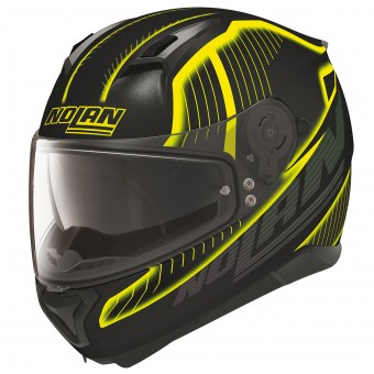 Casque Integral Nolan N87 Harp N-Com Flat Black Yellow 18