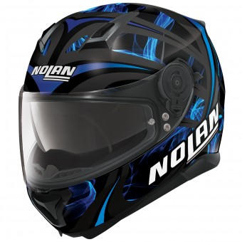 Casque Integral Nolan N87 Ledlight N-Com Black Blue 29