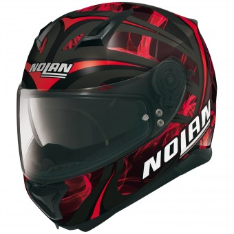 Casque Integral Nolan N87 Ledlight N-Com Black Red 30