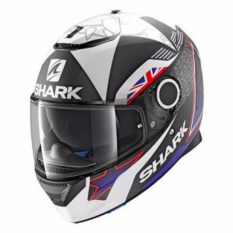 Casque Integral Shark Spartan Replica Redding 2017 Mat KBW