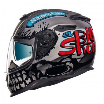 Casque Integral Nexx SX.100 Big Shot Dark Grey