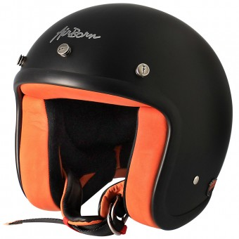 Casque Jet Airborn Steve AB 8 Matt Black Orange