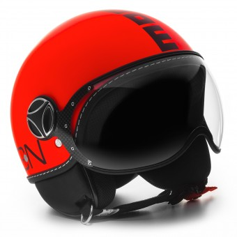 Casque Jet Momo Design FGTR Fluo Matt Orange