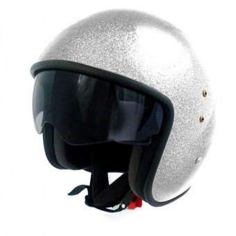 Casque Jet Up Smart Glitter White