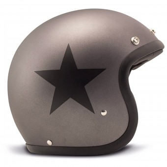 Casque Jet Dmd Vintage Star Grey