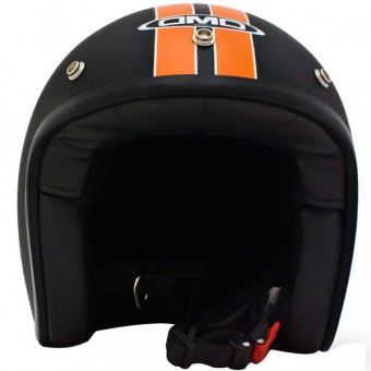 Casque Jet Dmd Vintage HD Schwarz Matt Orange