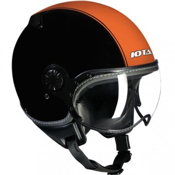 Casque Jet IOTA DP04 Run Schwarz Matt Orange