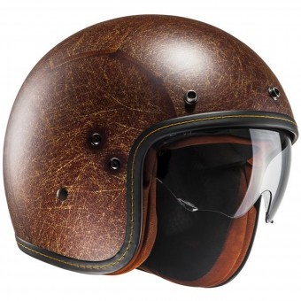 Casque Jet HJC FG-Jet Semi Mat Brown