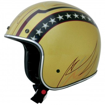 Casque Jet AFX FX-76 Vintage Line Gold Chrome