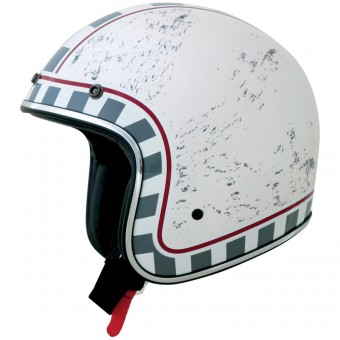 Casque Jet AFX FX-76 Vintage MCQ White Chrome