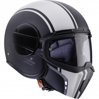 Casque Jet Caberg Ghost Legend Matt Black White