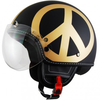 Casque Jet Moschino Peace and Love Gold Mat