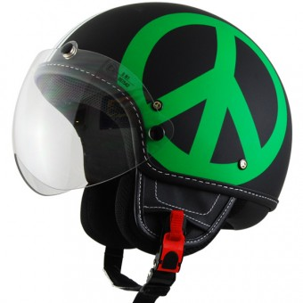 Casque Jet Moschino Peace and Love Tricolore