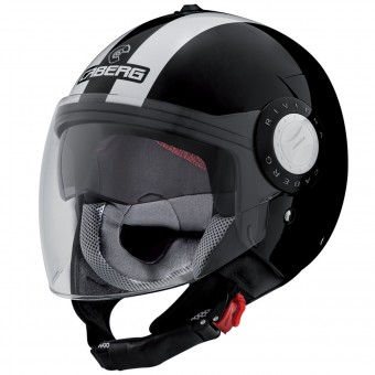 Casque Jet Caberg Riviera V3 Legend Black White