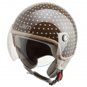 Casque Jet LEM Roger Dusty Brown