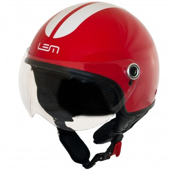 Casque Jet LEM Roger Go Fast Red White