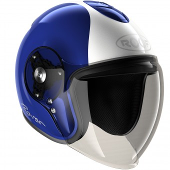 Casque Jet Roof Rover Legend Blau Weiß