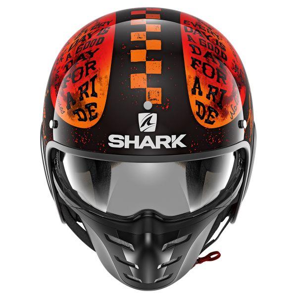 XS Schwarz//Weiss Shark Motorradhelm S-DRAK 2 TRIPP IN KWR