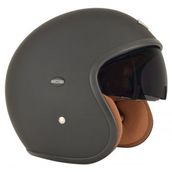 Casque Jet Edguard Speed Ed Schwarz Matt